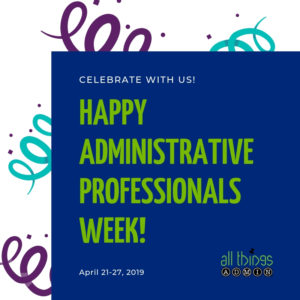 Personal Note from Julie: Take Advantage of These Special Admin Opportunities