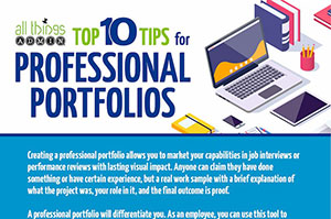 Top 10 Tips for Professional Portfolios [Infographic]
