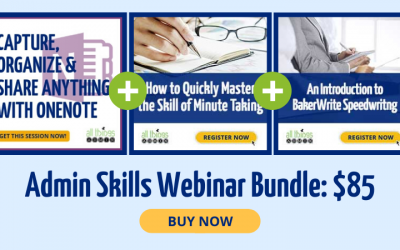 Save 40% on the Admin Skills Webinar Bundle!