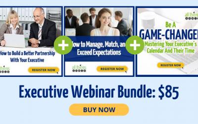 Save 40% on the Executive Webinar Bundle!