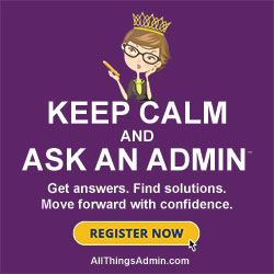 Keep Calm and Ask an Admin