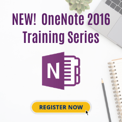 New! Live OneNote Training in May
